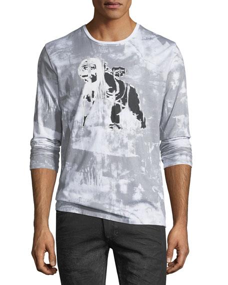 PRPS Cherub-Graphic Distressed Long-Sleeve T-Shirt