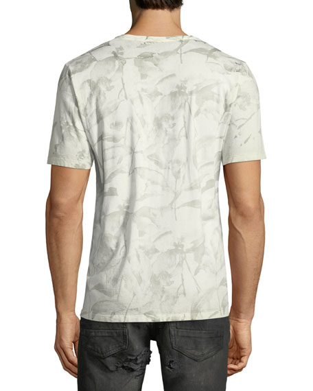 Leaf-Print Short-Sleeve T-Shirt