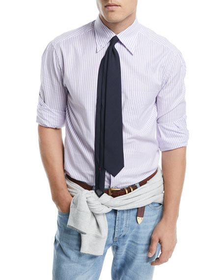 Brunello Cucinelli Cotton Striped Sport Shirt