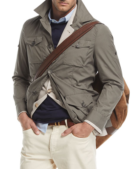 Brunello Cucinelli Safari Jacket with Roll-Tab Sleeves
