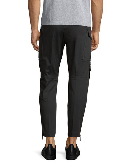 Sexy Stretch Cotton Cropped Cargo Pants