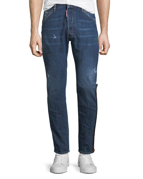 Dsquared2 Kenny Dark-Wash Straight-Leg Jeans