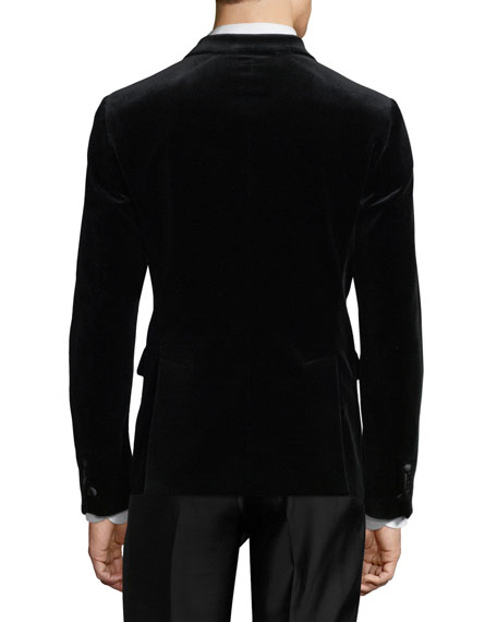 Velvet Peak-Lapel Dinner Jacket