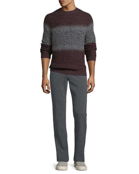 Graduated Melange Wool Trousers