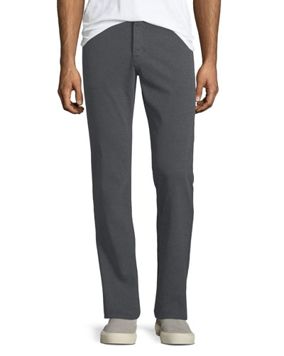 Graduated Melange Wool Trousers