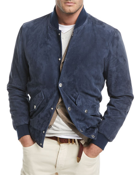 Suede Bomber Jacket and Matching Items & Matching