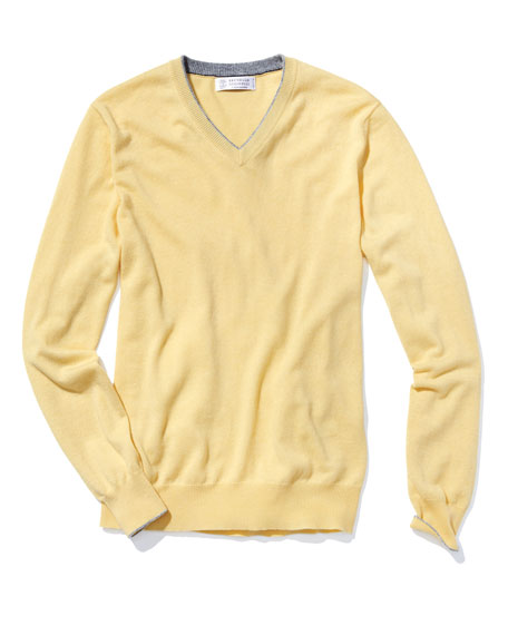 Cashmere Basic V-Neck Sweater