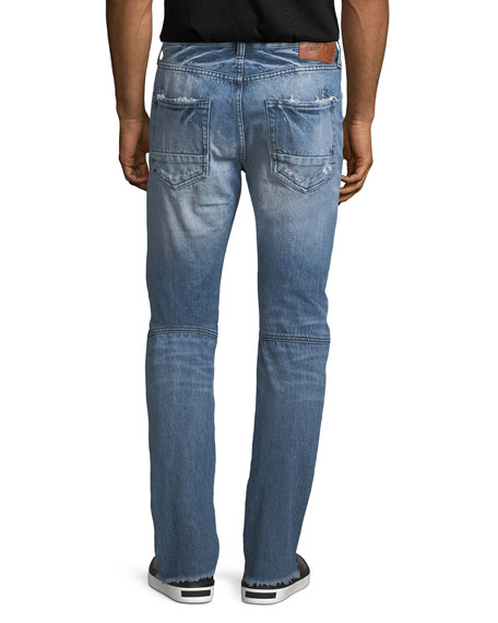 Le Sabre Distressed Tapered Jeans