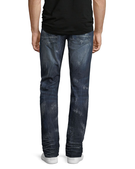 Demon Distressed Slim-Straight Jeans