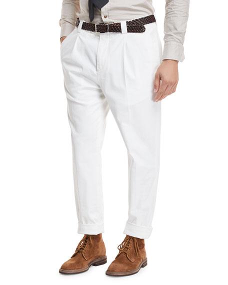 Brunello Cucinelli Single-Pleat Leisure Trouser Pants