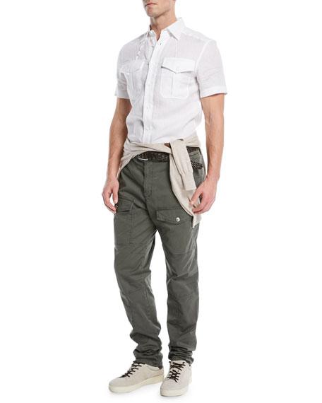 Western-Style Linen Shirt
