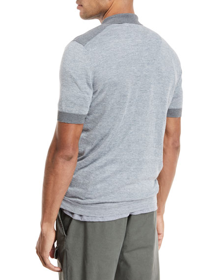 Short-Sleeve Polo Sweater