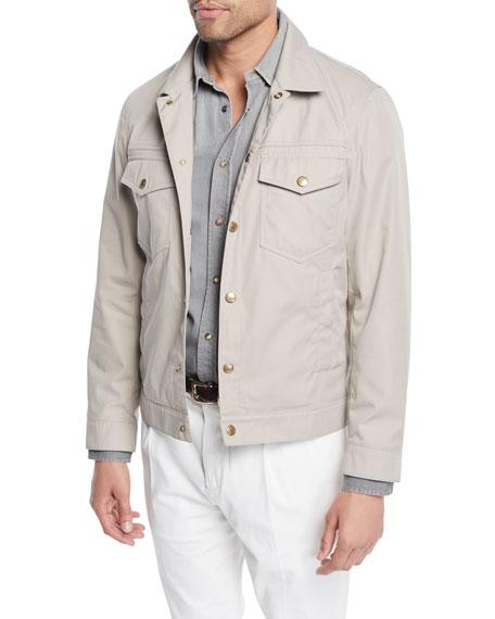 Brunello Cucinelli Men's Technical Denim Jacket