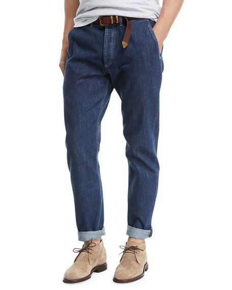 Brunello Cucinelli Leisure-Fit Straight-Leg Denim Jeans