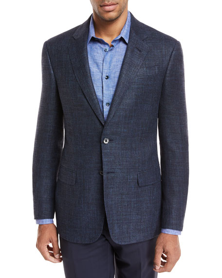 Giorgio Armani Melang?? Wool Two-Piece Suit