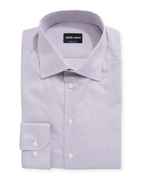 Giorgio Armani Mini Tattersall Barrel-Cuff Dress Shirt