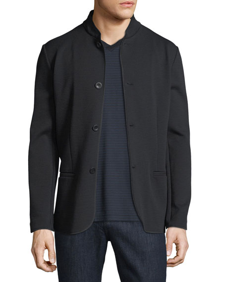 Giorgio Armani Textured Button-Front Jacket