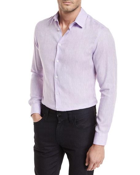 Giorgio Armani Linen Melangé Sport Shirt
