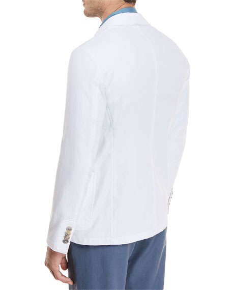 Piqué Three-Pocket Sport Coat