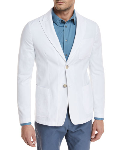 Piqué Three-Pocket Sport Coat