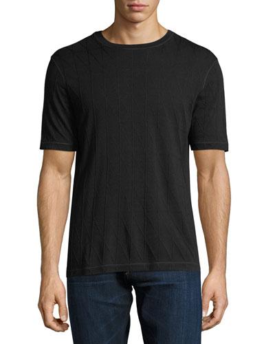 Triangle Jacquard T-Shirt