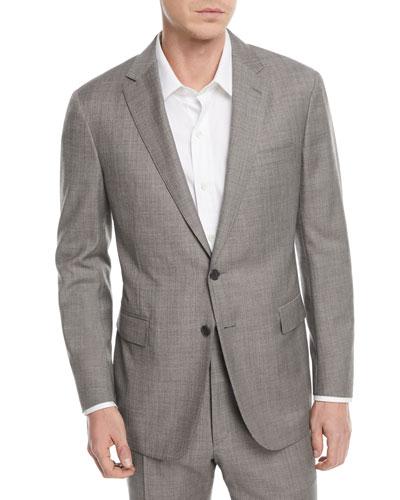 Sharkskin Two-Piece Wool Suit