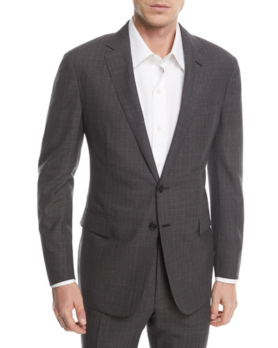 Two-Piece Glen Plaid Wool Suit