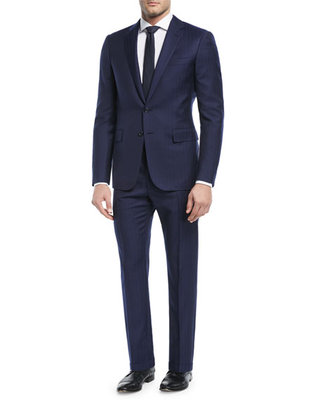 Railroad Striped Twill Two-Piece Suit
