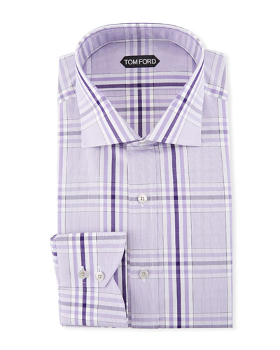 Large-Plaid Dress Shirt
