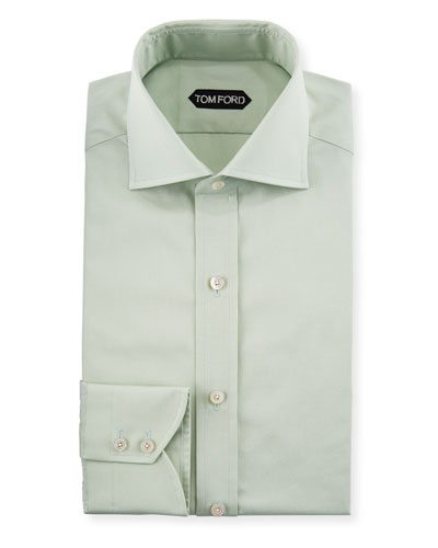 bb25dce791 TOM FORD Slim-Fit Solid-Color Poplin Barrel-Cuff Dress Shirt