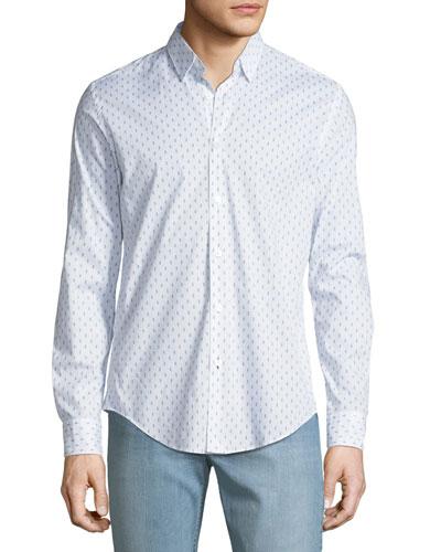 Men's Sailor Knot-Print Sport Shirt