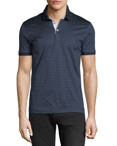 Men's Finely Striped Polo Shirt