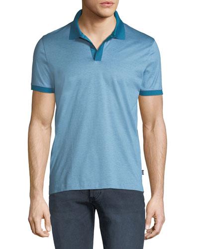 Men's Fine Striped Polo Shirt
