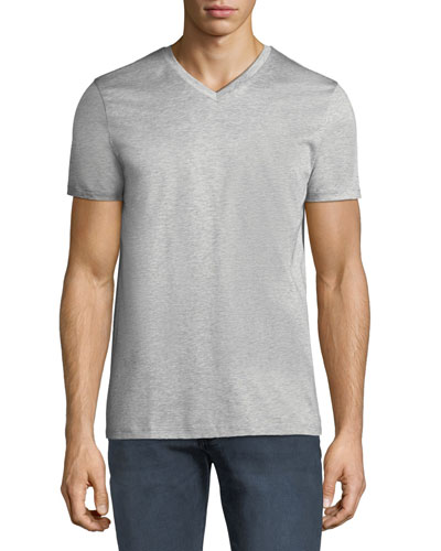Men's Mercerized Jersey V-Neck T-Shirt