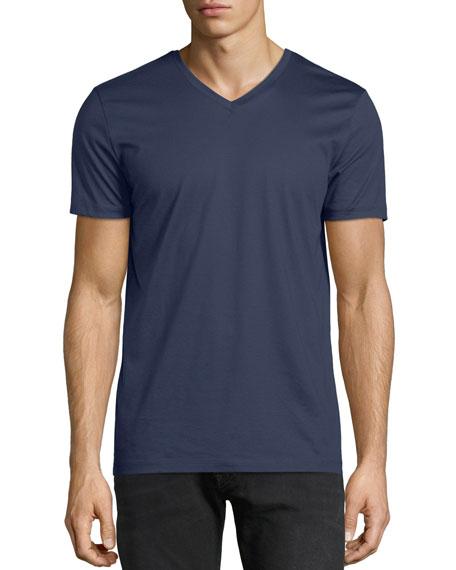 Men's V-Neck Mercerized Jersey T-Shirt