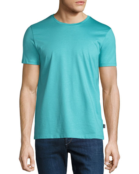 Men's Mercerized Jersey T-Shirt, Aqua