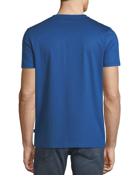 Men's Mercerized Jersey T-Shirt, Blue