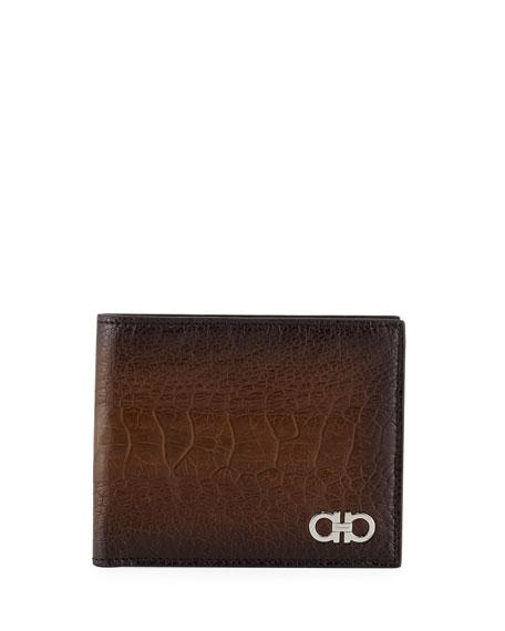 Salvatore Ferragamo Ostrich Bi-Fold Wallet