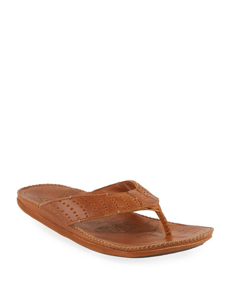 Hoe Perforated Thong Sandal
