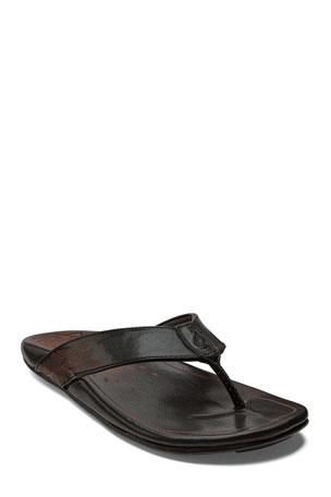 Olukai Kulia Leather Thong Sandals