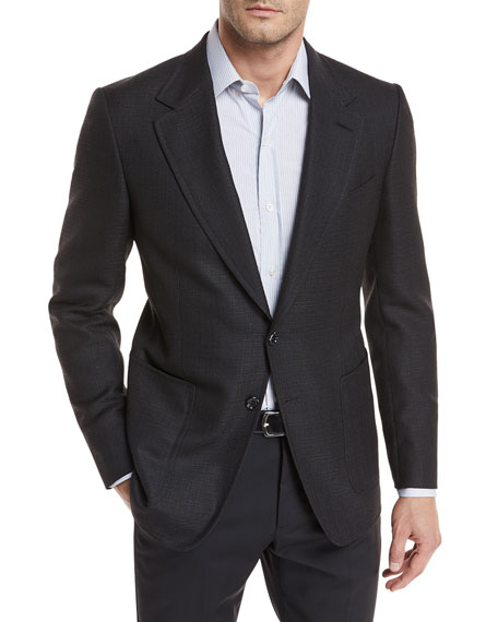 TOM FORD Hopsack Linen-Blend Sport Coat