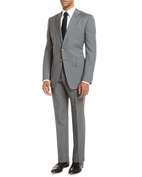 TOM FORD Pinstripe Two-Piece Wool Suit