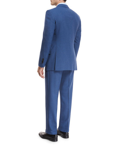 Fresco Wool Mouline Two-Piece Suit