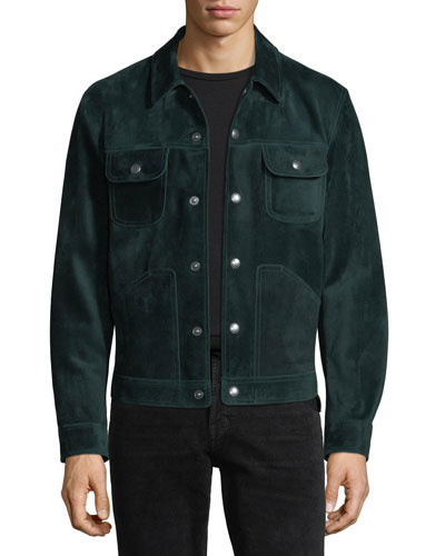 Emerald Suede Jean Jacket