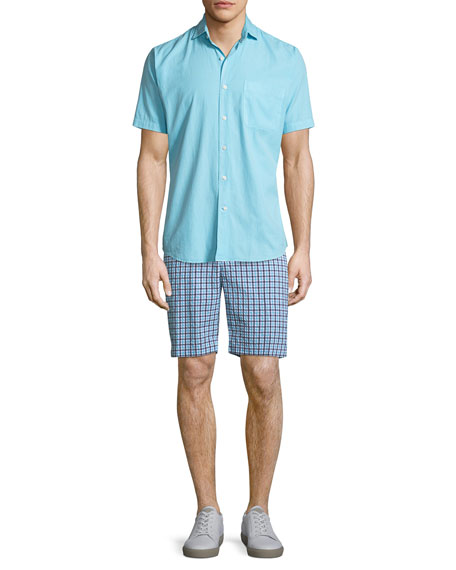 Apex Seersucker Check Shorts