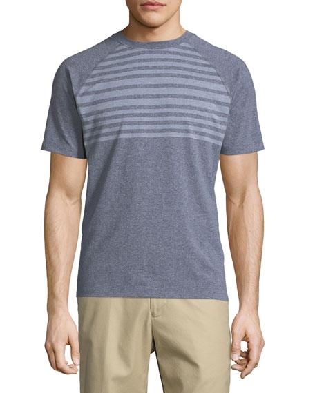 Peter Millar Rio Engineered Stripe Tech T-Shirt, Slate