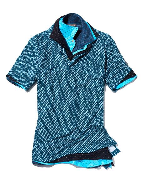 Bloodworth-Print Polo Shirt