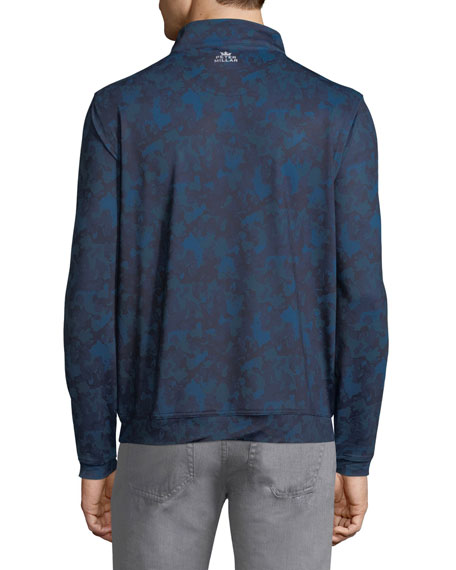 Perth Stretch Camouflage Quarter-Zip Sweatshirt, Slate