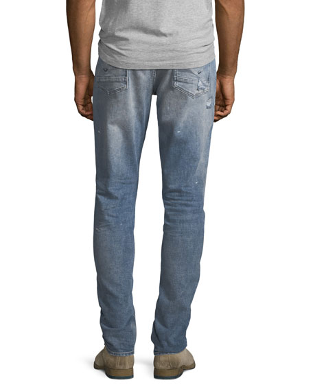 Men's Blake Slim-Straight Distressed Jeans, Blue
