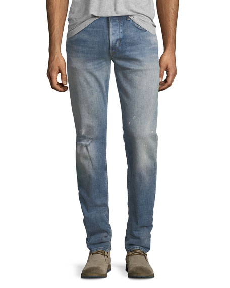 Hudson Men's Blake Slim-Straight Distressed Jeans, Blue